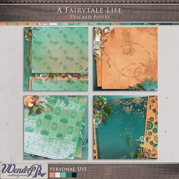 A Fairytale Life - Stacked Papers by WendyP Designs