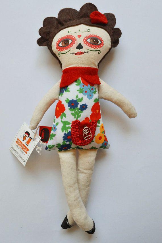 Muñeca Catrina / Handmade / stuffed doll por Mandarinasdetela