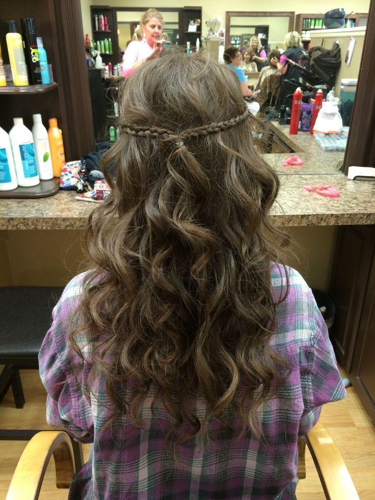 prom hair? | Hair styles, Simple prom hair, Prom hair medium