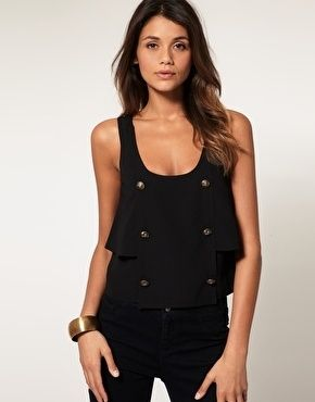 ASOS Button Front Layered Vest - StyleSays