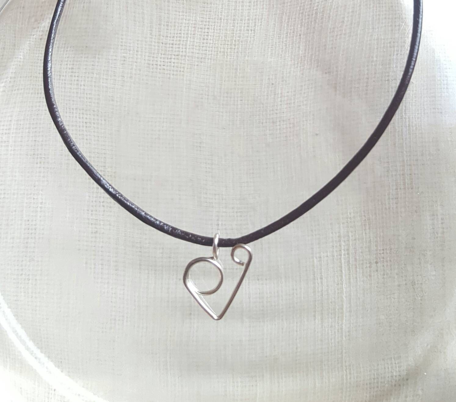 Wire Wrapped Heart Choker, Gift for Women, Birthday Gift, Christmas ...
