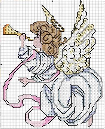 sandylandya@outlook.es  Schematic cross stitch Angel Trumpet