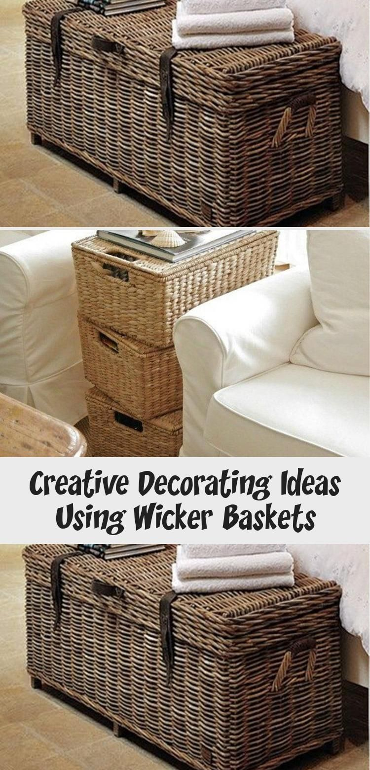 Creative Decorating Ideas Using Wicker Baskets With Images