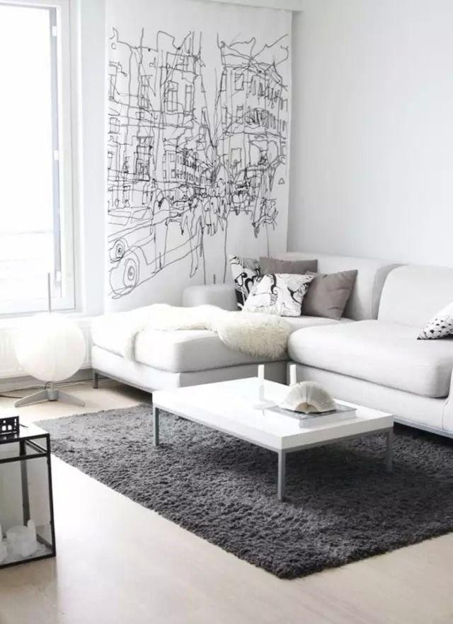 White Theme Room Decoration Minimalism Interior Minimal