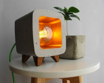 Concrete lamp, night light, design, vintage... | lights | Pinterest ...