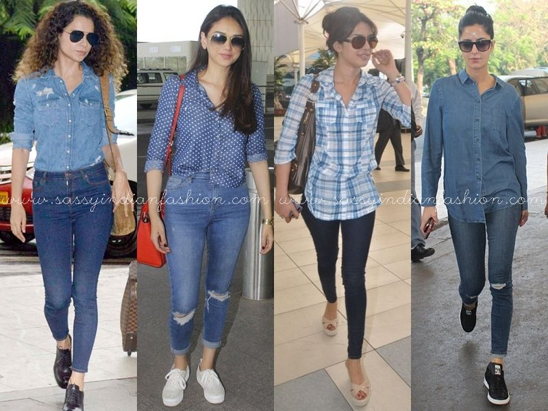 88e49a4d56a9a0 Celebs Who Made Jeans   Shirt Combo Look More Casual