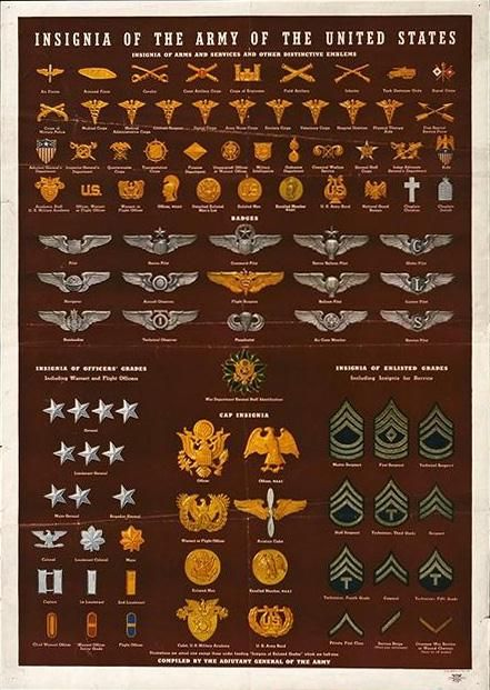 Http Www Library Nwu Edu Govpub Collections Wwii Posters Img Ww0207 78 Jpg Military Insignia Military Ranks Army Ranks