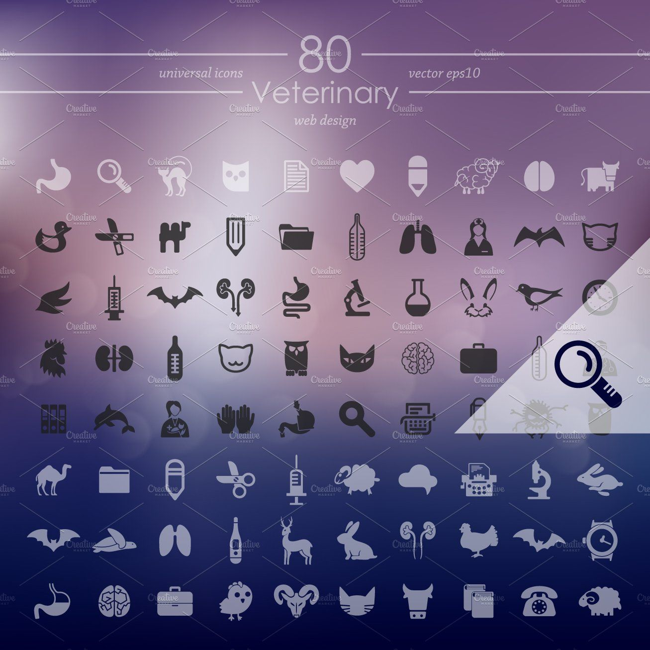 80 Veterinary Icons Simple Icon Icon Graphics Inspiration
