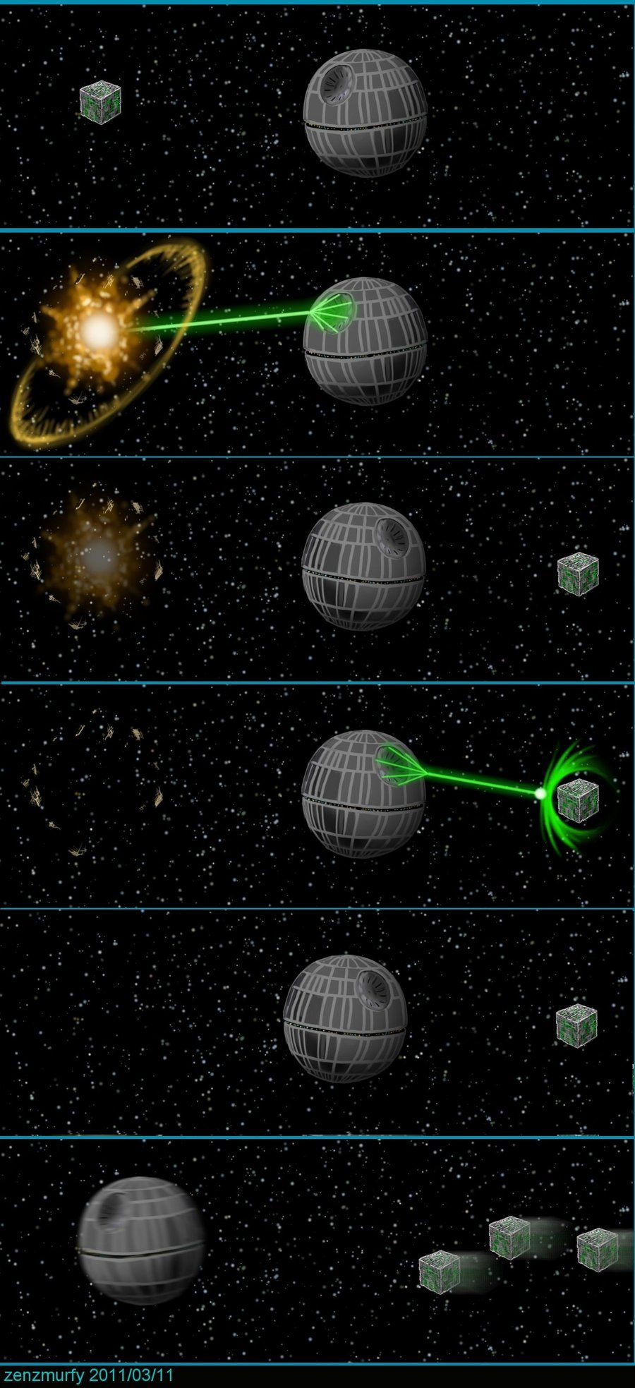 Probably in my top three reasons for Star Trek Universe > Star Wars Universe. Borg Vs Deathstar by zenzmurfy.deviantart.com on @deviantART