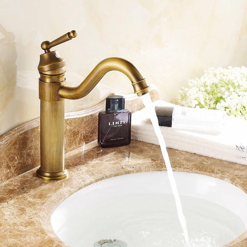 BECOLA free shipping basin faucet antique bronze antique bathroom ...