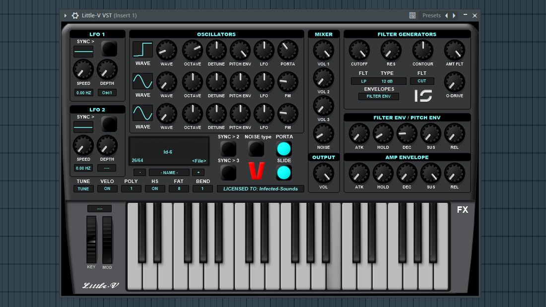 Infected Sounds Releases FREE Little-V Synthesizer