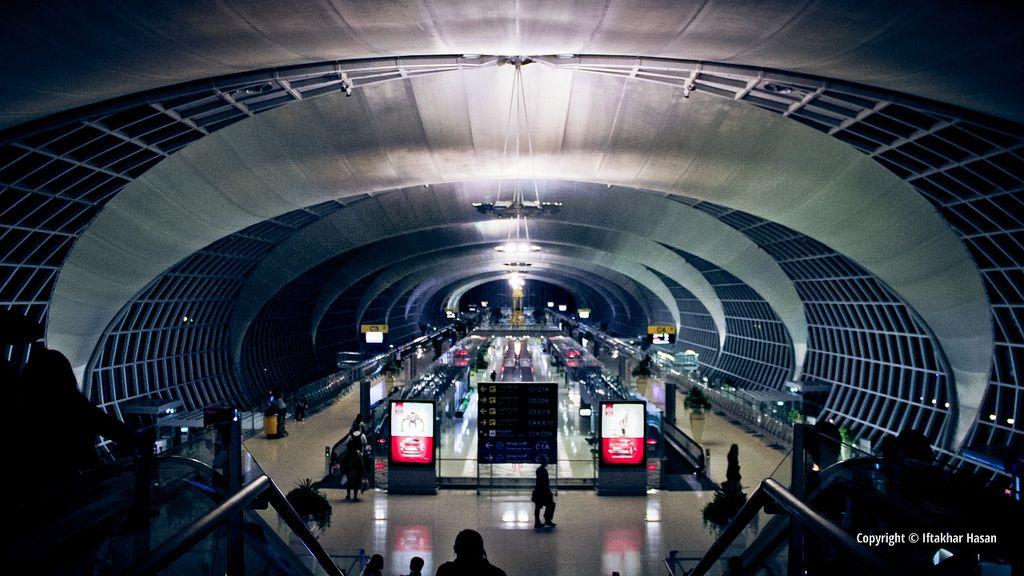 Suvarnabhumi Airport Concourse at Night by Iftakhar Hasan