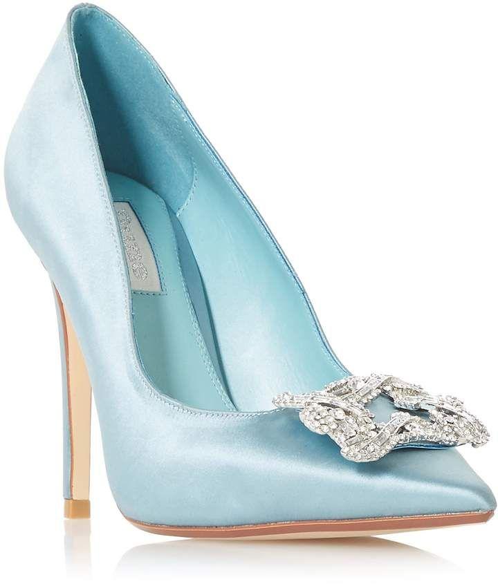 c197d9e5a086 Dune Breeanna Bridal Brooch Trim Court Shoes. Breeanna Bridal Brooch Trim Court  Shoes