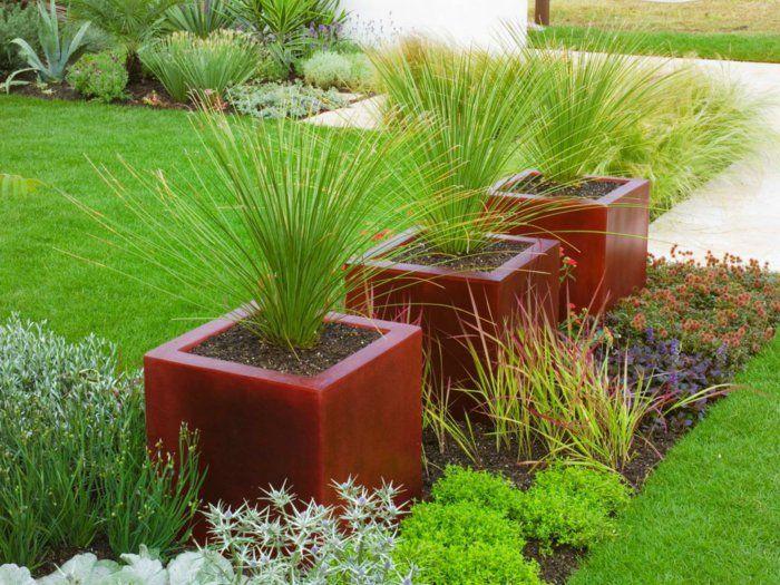 Gartengestaltung Ideen Garten Pflanzen Grüner Rasen