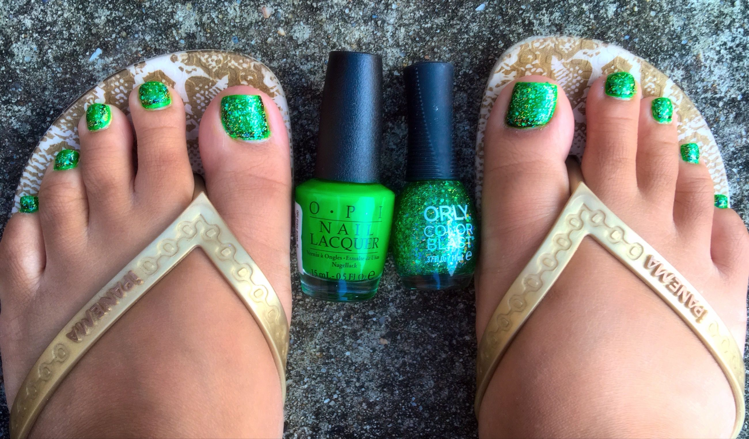OPI Green Come True, Orly Color Blast Lime Green Chunky Glitter ...