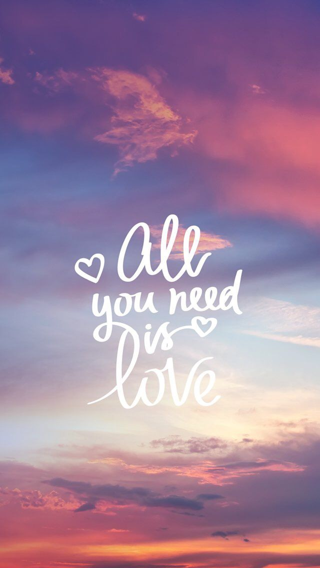 Wallpaper iPhone /all you need is love ⚪️
