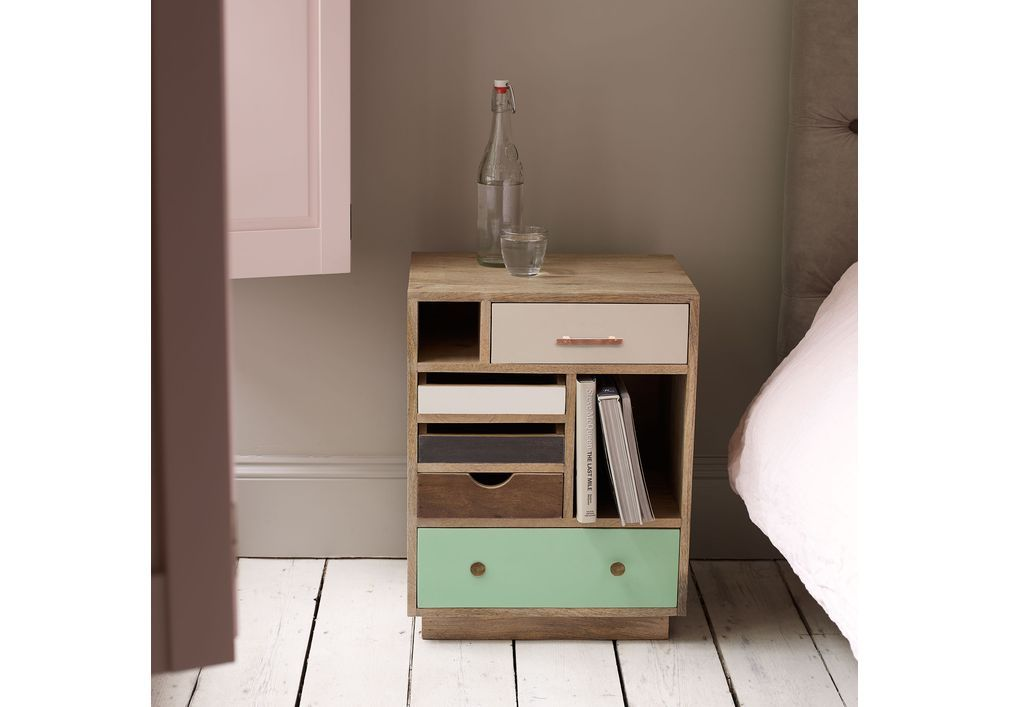 Halle Wooden Bedside Cabinet - Right