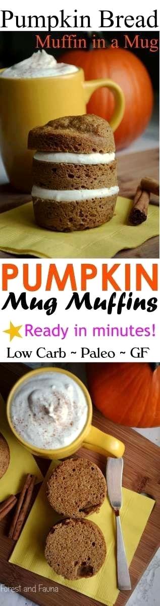 Low Carb Pumpkin Muffin in a Mug - Paleo