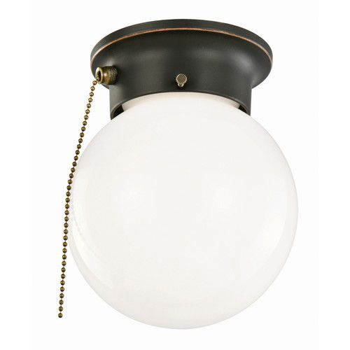 Ceiling Mount Light With Pull Chain Endearing Found It At Wayfair  1 Light Flush Mount With Pull Chain  Diy And Design Decoration