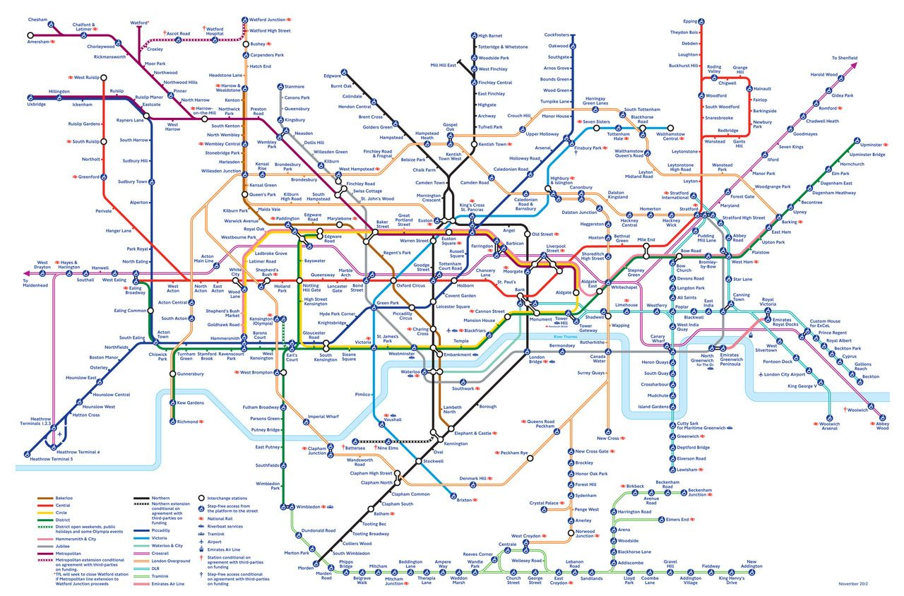 london underground tube map how it will look in 2020