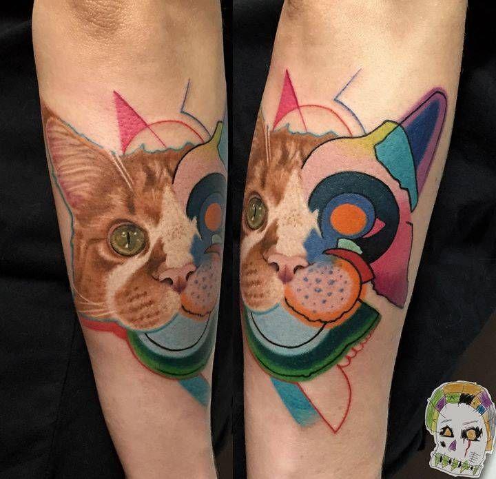 Modern Pop Art Tattoo