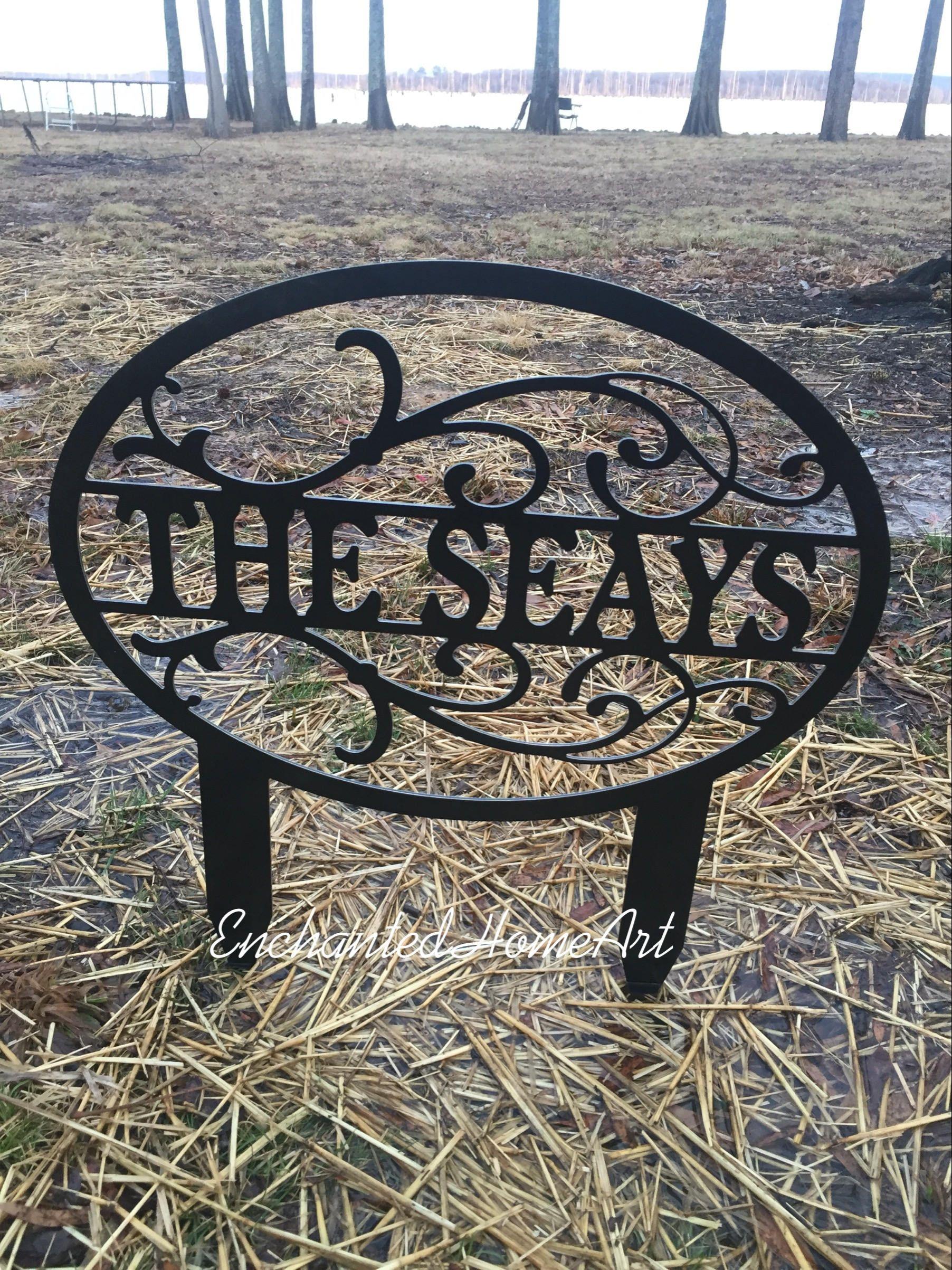 22 Personalized Yard Sign Garden Art Yard Art Custom Name