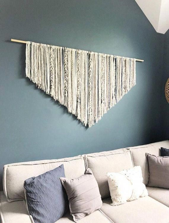 Extra Large Living Room Wall Art: Extra Large Macrame Wall Hanging // Behind Couch Decor
