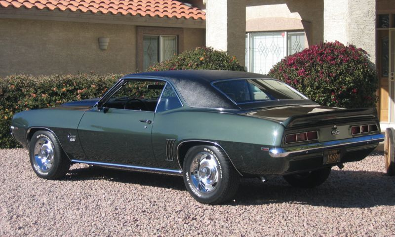 1969 rally sport camaro for sale | frost green burnished