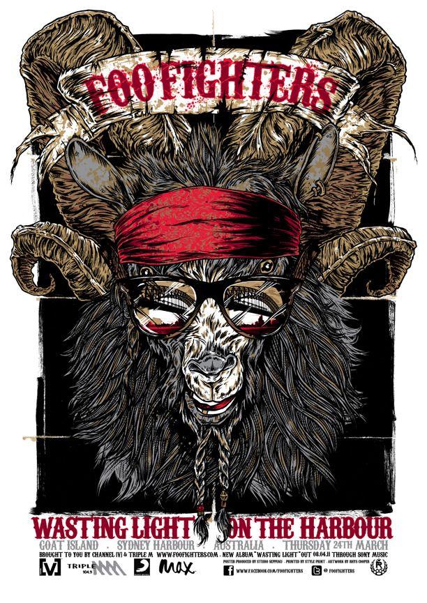 Foo Fighters WOW que buen cartel! :3