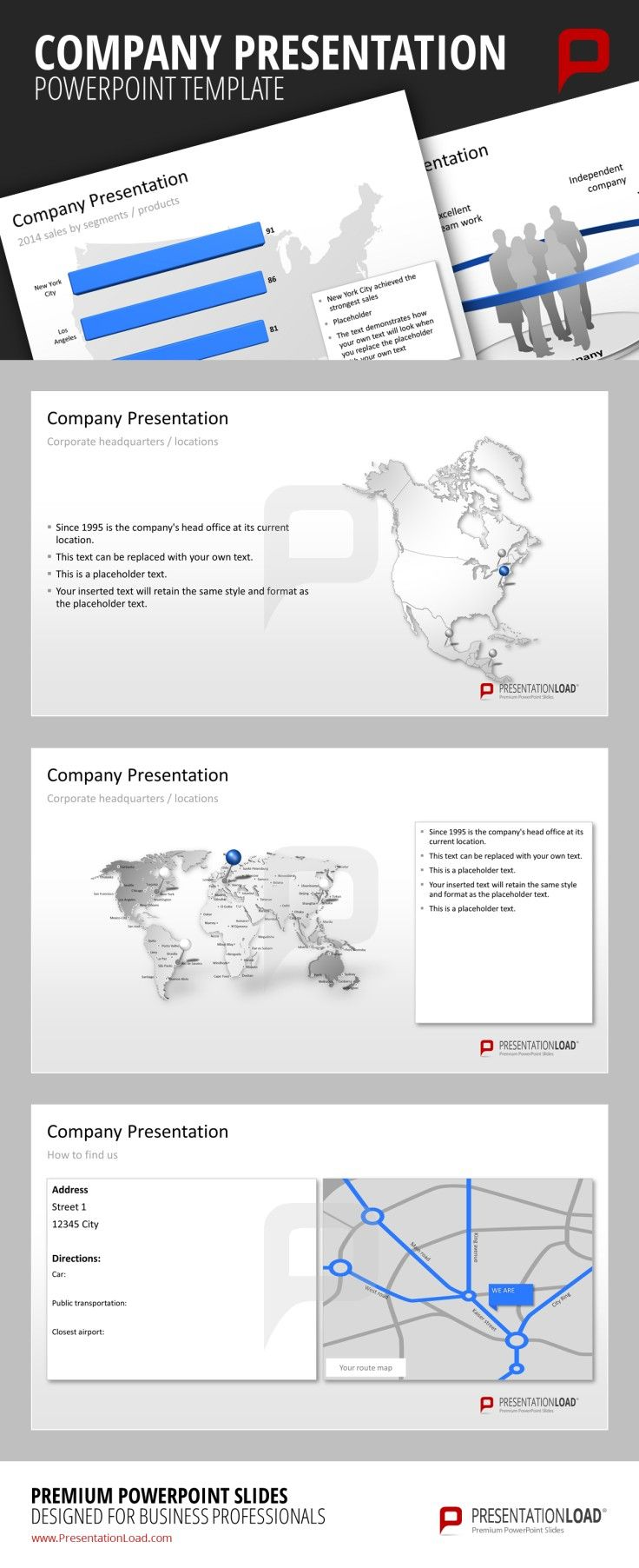 company presentation powerpoint templates the company presentation, Modern powerpoint