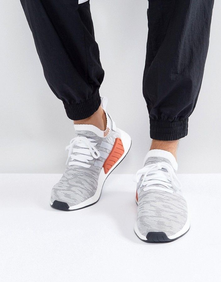 b66a30ed7a1c8 adidas Originals NMD R2 Primeknit Sneakers In White BY9410 ...