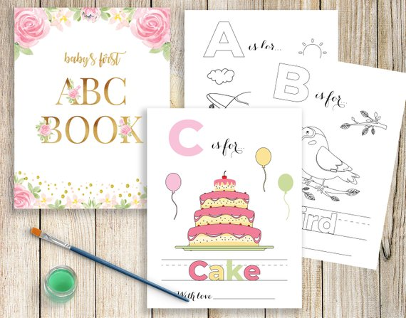 Baby S First Abc Book Babys First Alphabet Book Baby Shower