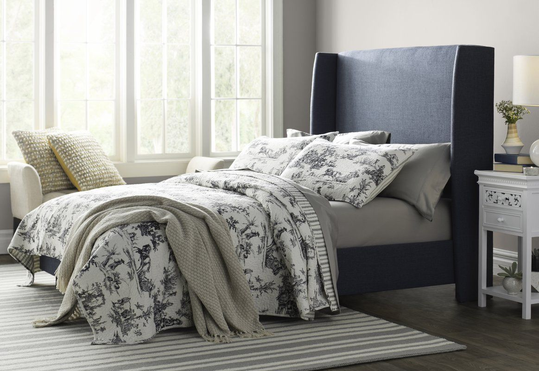 Alrai Upholstered Standard Bed Traditional bedroom
