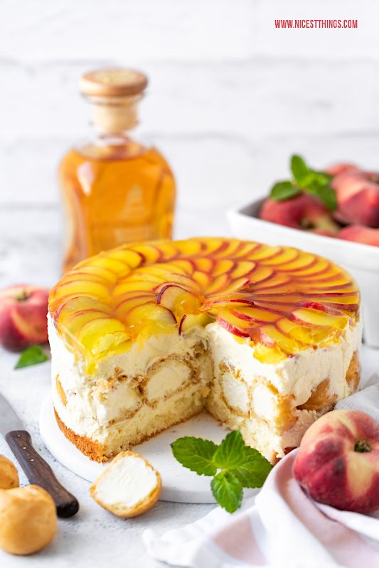 Windbeutel Torte Rezept mit Weinbergpfirsichen #recipeforpuffpastry