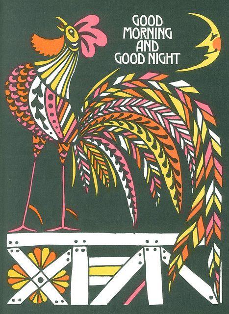 Illustration by John Alcorn, 1966 From The Fireside Book of Children's Songs #illustration #design #pink