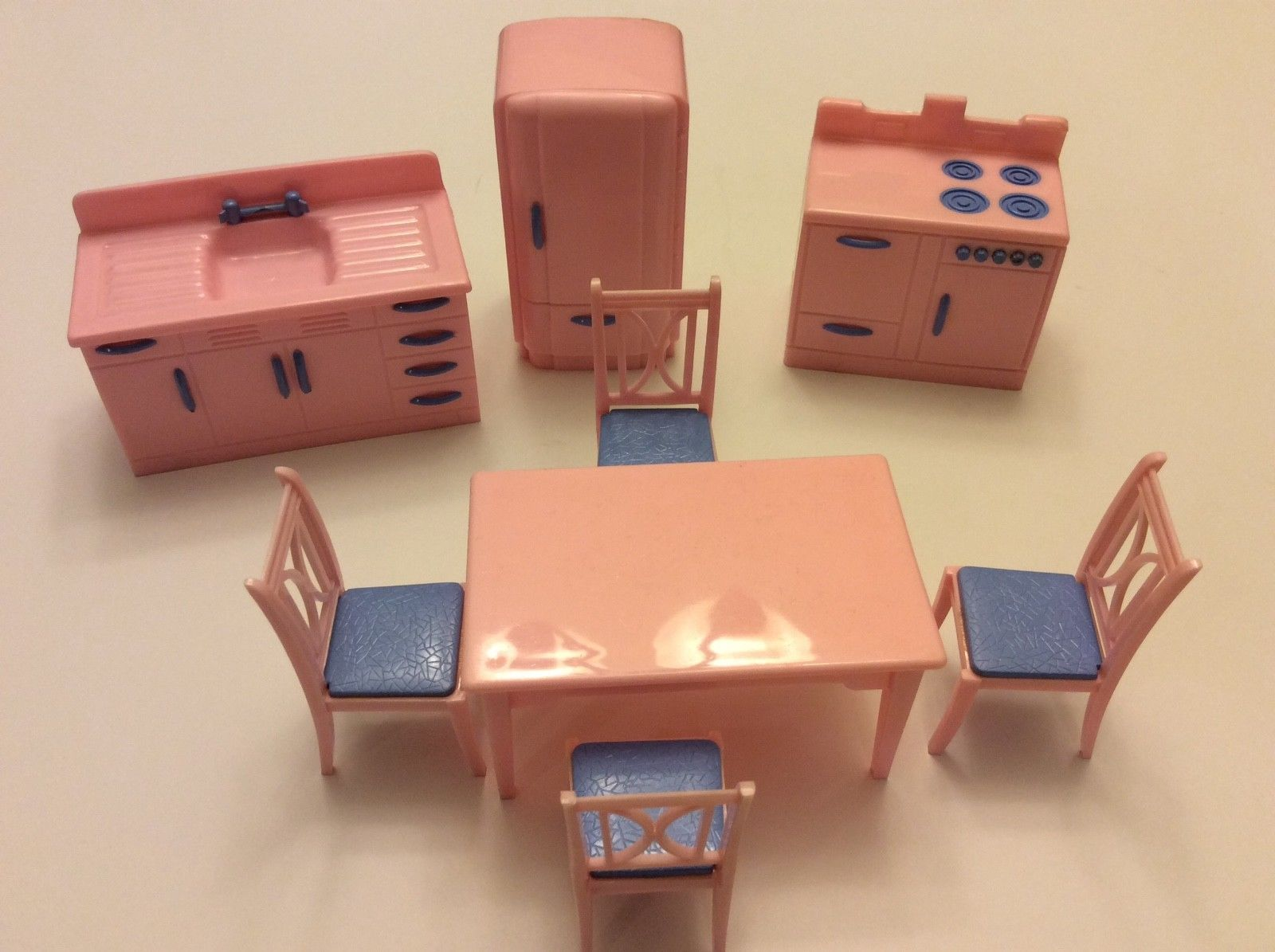 Renwal KITCHEN SET, Vintage Dollhouse Furniture, Ideal, Plasco 1:16 Scale 8  Pc
