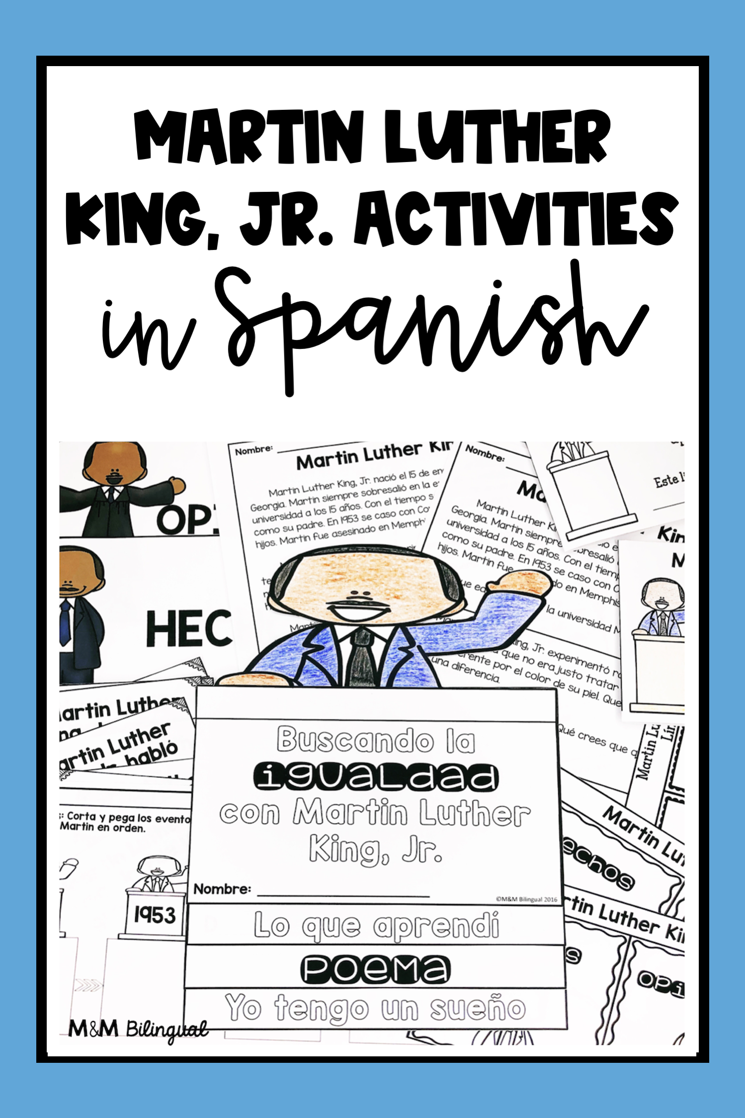 Photo of Martin Luther King, Jr. Activities in SPANISH