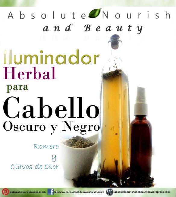 Iluminador Herbal para Cabello Negro y Oscuro | Absolute Nourish and Beauty (Español)