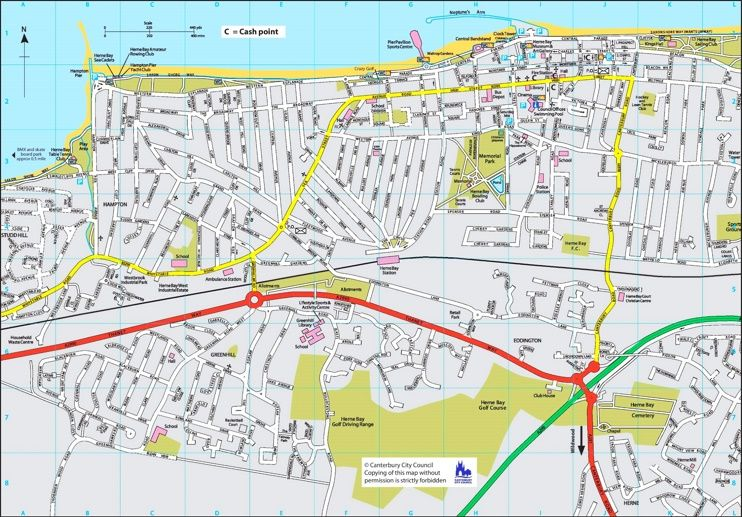 Herne Bay tourist map Maps Pinterest Tourist map Herne Bay