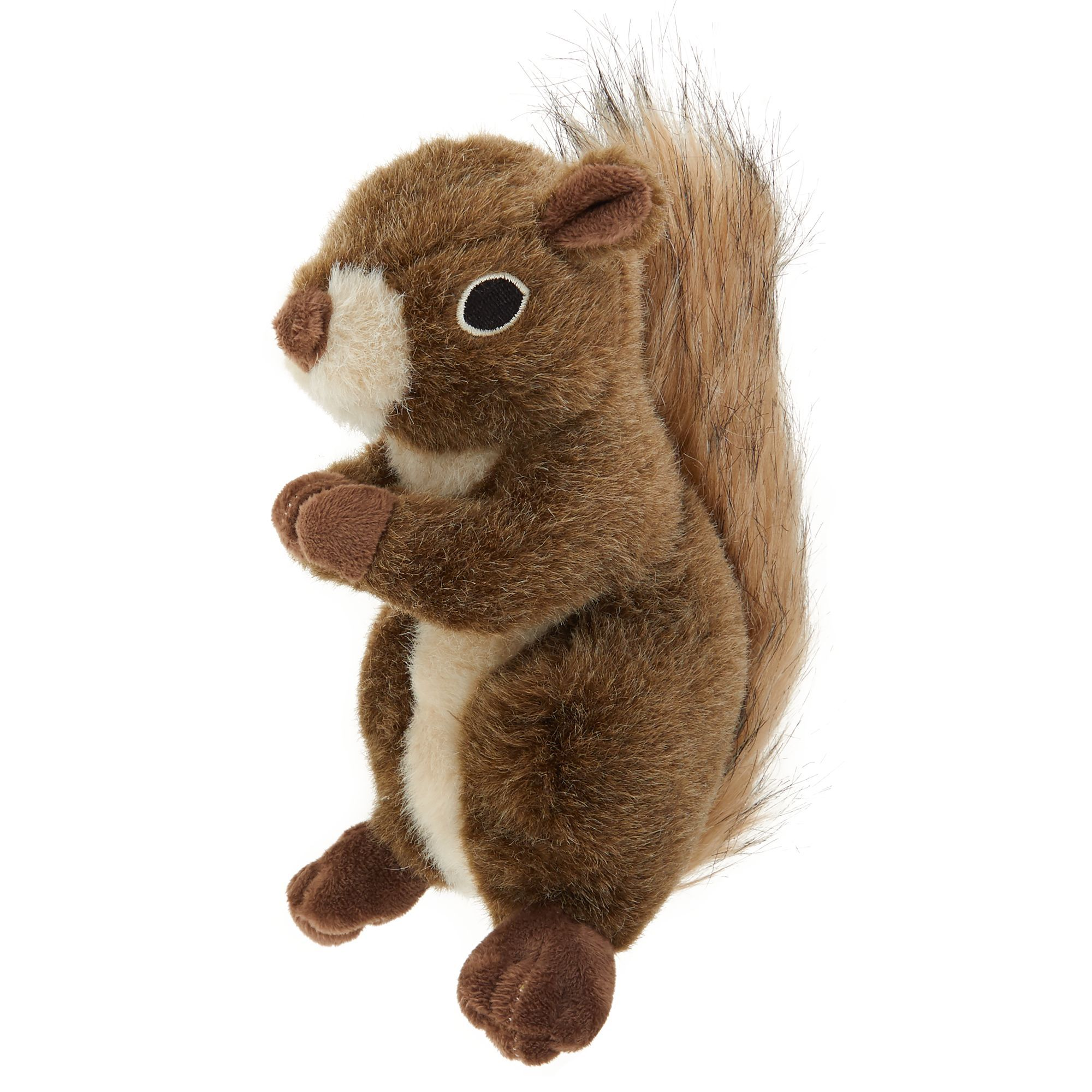 Top Paw Realistic Squirrel Dog Toy Plush Squirrel Plush Dog