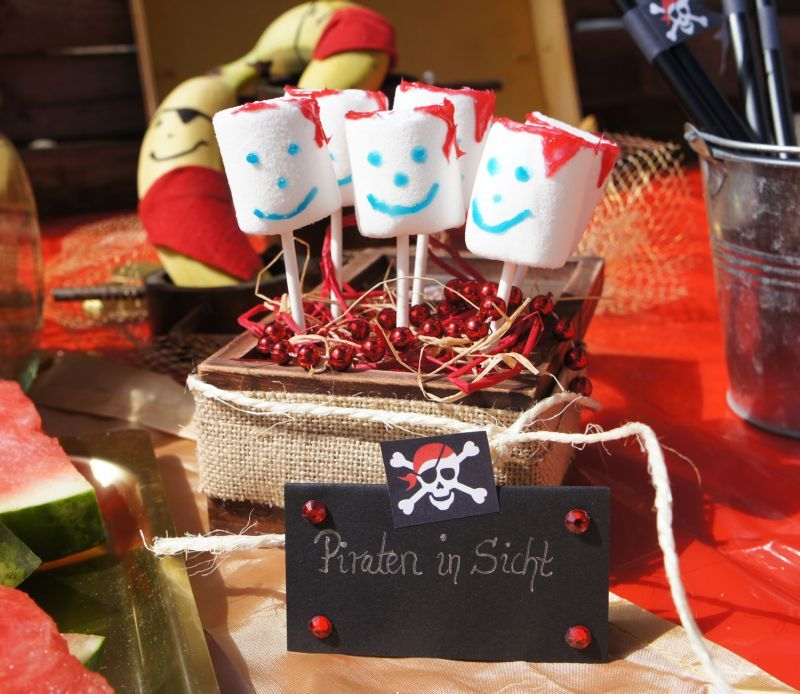 Piratenparty marshmallows food deco pirate party essen for Dekoration essen