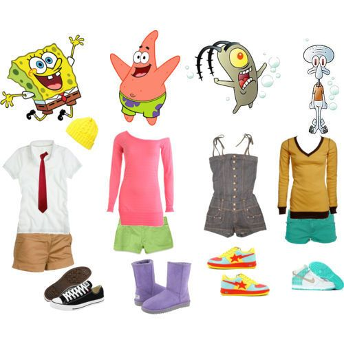 characters turn into awesome outfits-spongebob my favorite is plankton