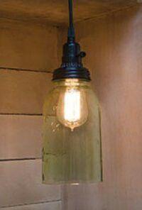 Mason Jar Pendant Lamp in Matushka's Corner at orthodoxincense.com