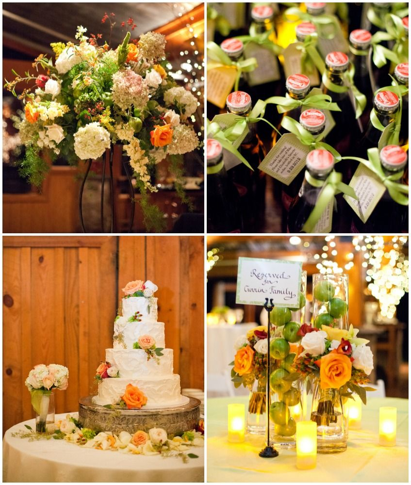 Orange + Green Wedding Colors