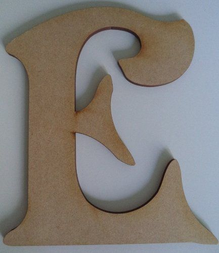 8 inch tall wooden letter e blank ready to paint door sign plaque
