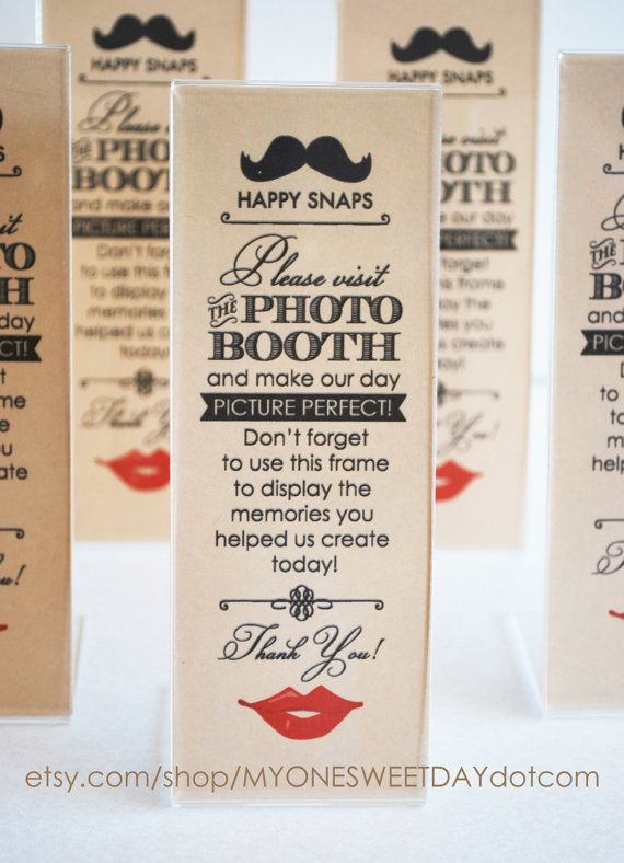 Vintage Photo Booth Acrylic Frames Party Favor Lips and Mustache ...