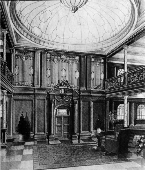 the design of the first class grand staircase aboard the