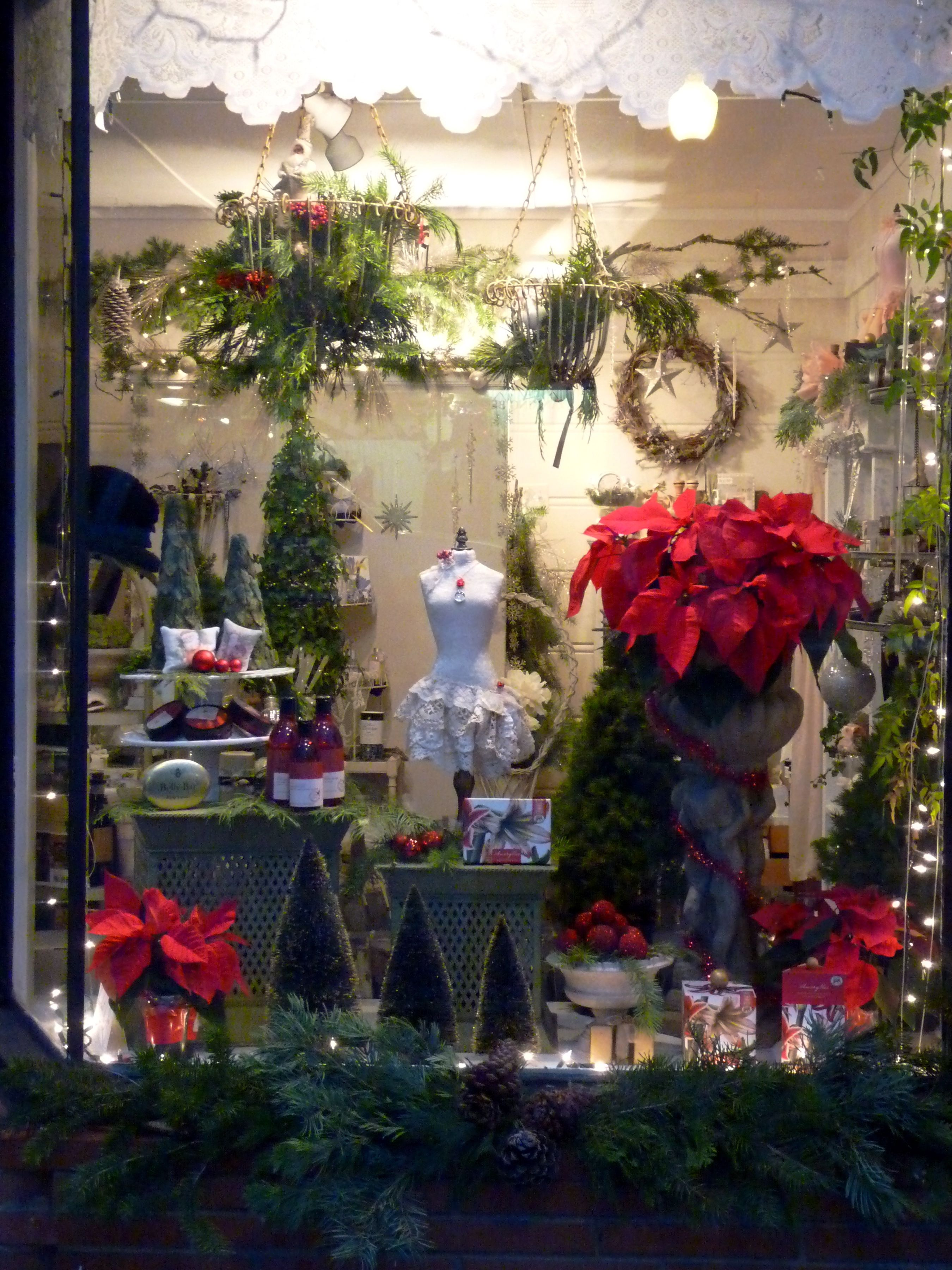 Emily S Garden Holiday Store Front Window Display Retail