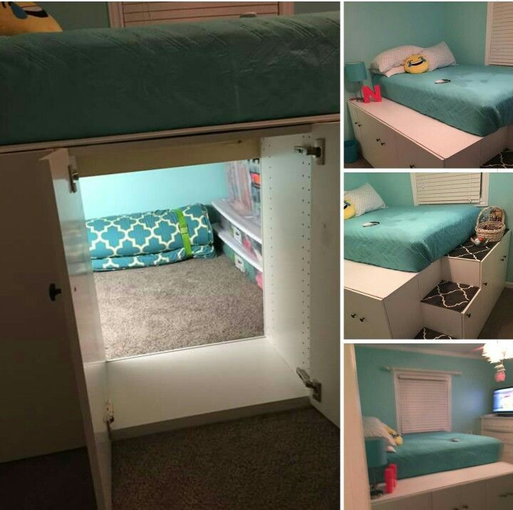 Ikea Kitchen Cabinets Turned Bed
