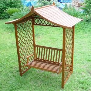 Hardwood Garden Arbour Pergola  Seat Swing Bench Perfect For Vine Like Plant Creeping